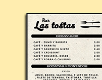 Bar Las Tostas || Menu Design