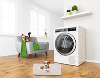 Bosch 3D Key visual - Clothes dryer for pets owners