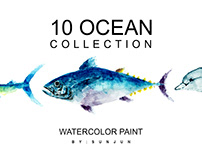 Free DEMO Ocean Collection - Watercolor Paint