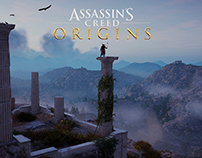 Assassin's Creed Origins - Level art of the Aqueduct