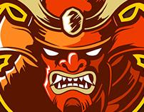 Samurai theme Esports Logo