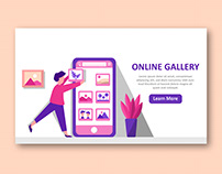 Online gallery landing page