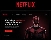 Netflix landing page concept