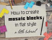 How to create mosaic blocks in flat style