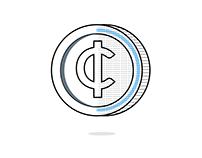 Carbon coin design