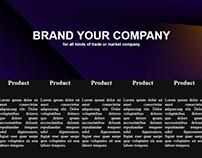 Web desing for brand