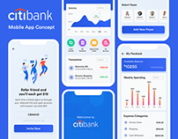 Citibank | Banking Mobile App UI/UX Concept
