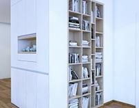 A walled wardrobe