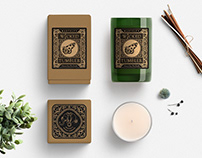 Natural Soy Wax Candle Branding, Packaging Design