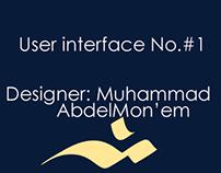 User interface  #1