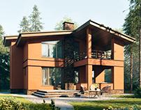 Brick house - 3d visualization