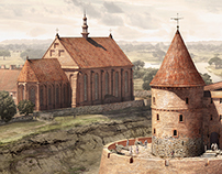 Historical castle reconstruction