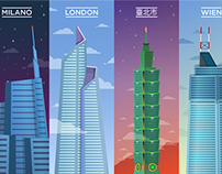 Vector skyscrapers
