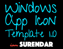 Windows 8.1 App Icons - Template