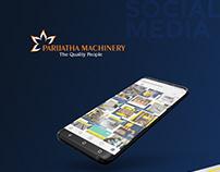 Social Media Designs: Parijatha Machinery