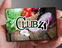Club 41 Website & Business Card