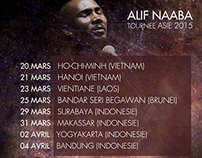 Affiche Tournée Asie 2015 - Alif Naaba