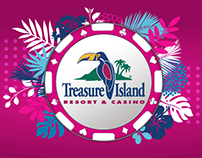 Treasure Island Resort & Casino Graphic Design