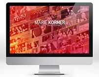 Marie Korner Website Design