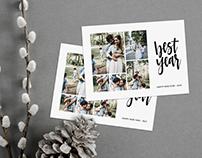 New Year Minimalist Photo Card Template - Best Year