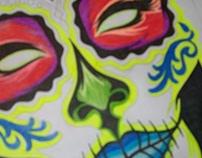 sketch da ilustração mask girl