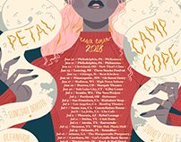 Petal & Camp Cope 2018 USA Tour Poster
