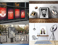 Free PSD Poster/Flyer Mock-ups – February 2015 Edition