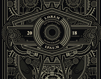 SteamPunk Poster Template
