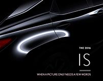 Mock Design: LEXUS - 2016 IS Ad