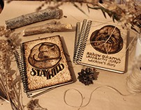 Burning Wood Covered Notebooks