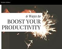 Ways to Boost Productivity - Tejesh Kodali