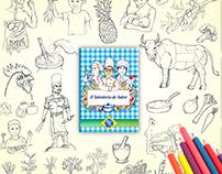 A Sabedoria do Sabor - Gastronomy coloring book