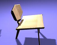 CNC Furniture drawn in AutoCad & 3D Studio Max