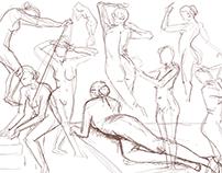 Human anatomy fast sketches