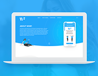 WinFi -Application & Landing page design
