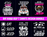 Off Road Jeep T-Shirts Design Bundle