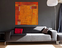 Coral, Ochre and Sienna 3 rooms by Kathleen Mooney