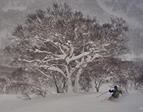In the deep white of Hokkaido
