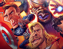 AVENGERS caricature