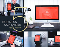 5 PSD Mockups Business Container