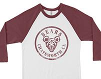 "Print design of Baseball T-shirtt ""BEARS"""