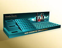 Acrylic Cosmetic Counter Display