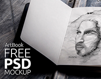 Free Mock-Up Sketch book Photorealistic 01