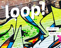 Chicago graffiti art feature - magazine mockup