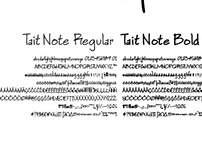 Tait Note Font