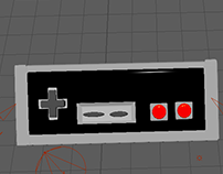 Modeled NES Controller