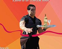 """Afiche """"Carrera de Garzones 2015"""""""