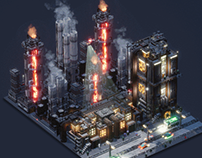 Voxelart Dioramas - Industries of Titan