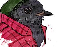 Hipster Black Robin