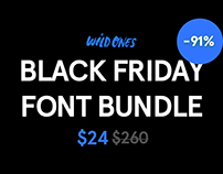 Black Friday Font Bundle 91% Off Discount